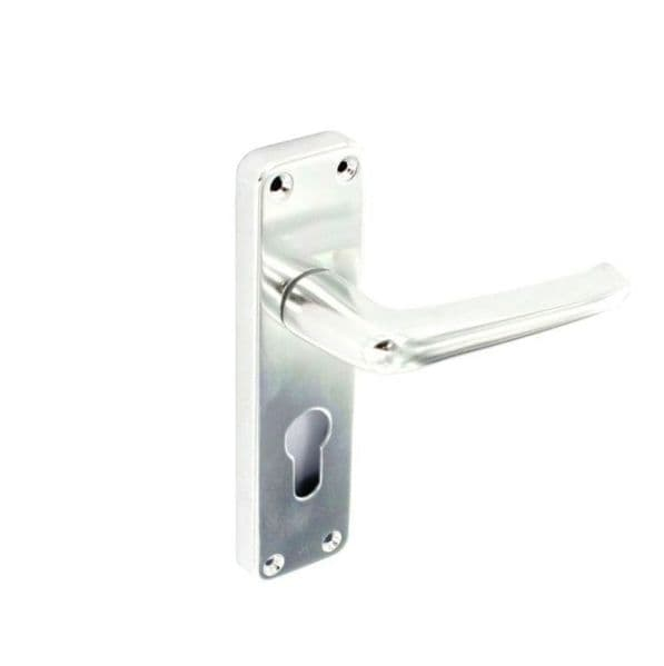 Securit Aluminium Euro Hadles Bright 1 Pair - 150mm